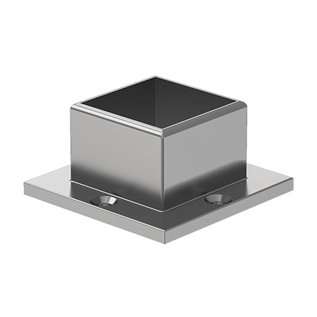 40x40 Square Strut 4 Holed Wall Flange